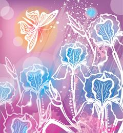 Stunning floral wallpaper