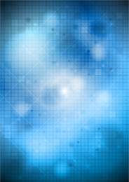 Abstract blue backdrop with grid and beams