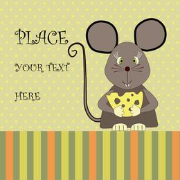 Maus, die Käse mit Text isst