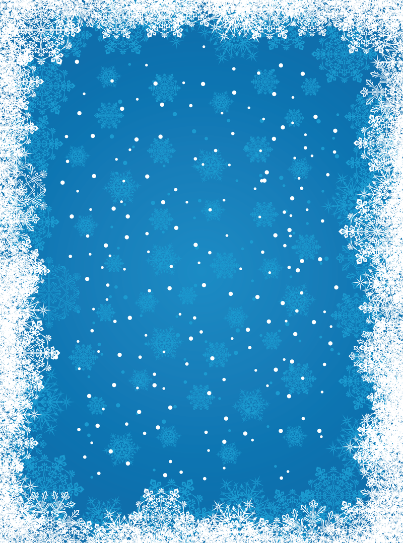 blue snowflake background vector download