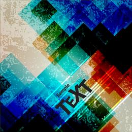 Grunge squares backdrop