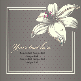 Vintage flower illustration with borders
