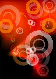 Design abstrato de círculos vermelhos