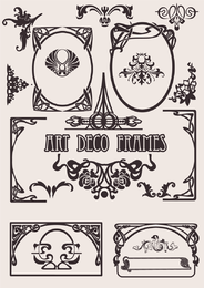 Art deco frames set