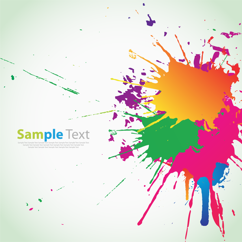salpicaduras de tinta de colores descargar vector Vector Banner Shapes Ice Cream Splat Vector