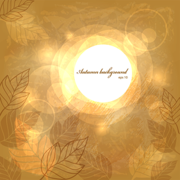 Autumn background with silhouettes