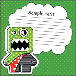 Green cartoon illustration sticker
