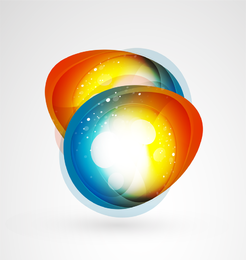 2 oval colorful shapes