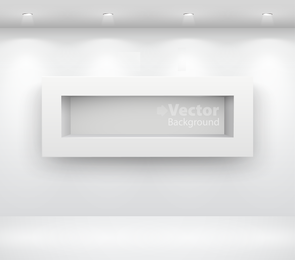 Box shelf on wall scenic display