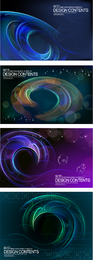 Dynamic circles and spirals backdrop