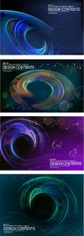 Dynamische Kreise und Spiralen Kulisse