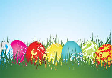 Colorful Easter Background 4