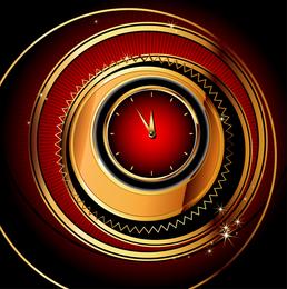 Espiral de fantasia e relógio