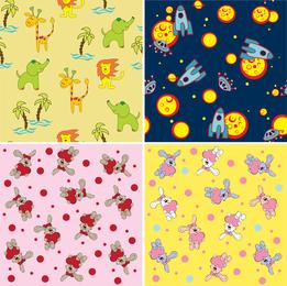 Set of 4 patterns for children