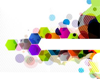 Fundo de hexágonos coloridos