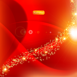 Abstract red design with sparkles