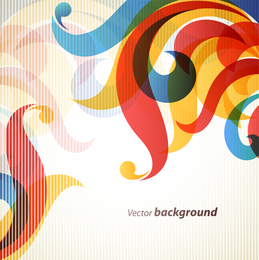 Translucent swirls backdrop