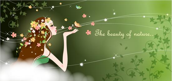 Dibujos animados de belleza vector 4