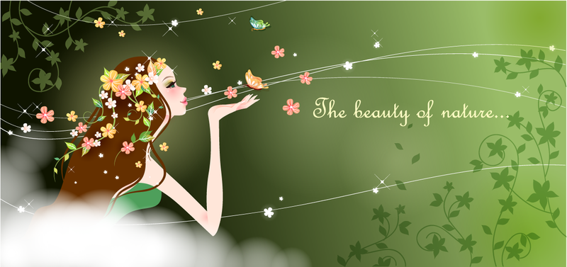 Cartoon Beauty Vector 4