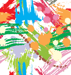 Borrões de tinta colorida