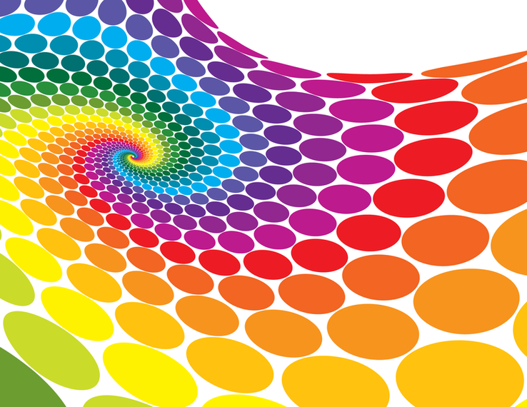 Abstract Color Dots Background Vector Download