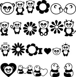 Vector de panda