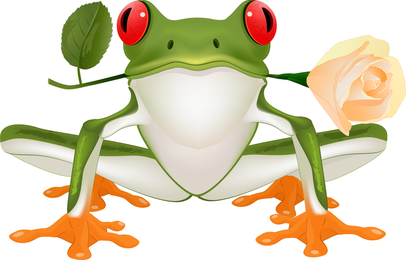3 Vector Cute Frogs