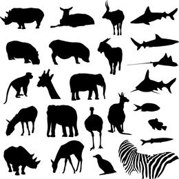 Safari- und Zootiere