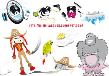 Mis dibujos animados ilustraciones