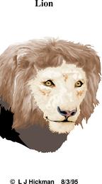 León con textura ilustración