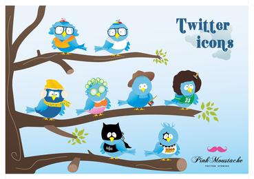 Vector Twitter Icon Set