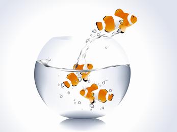 Fora do vetor de peixes de aquário