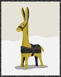 Flat donkey llama illustration