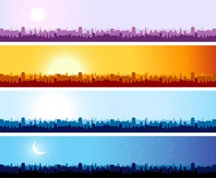 Stadt Silhouette Banner