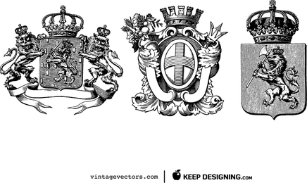 3 Heraldry Crests