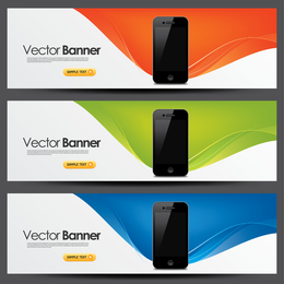 3 iPhone web banners
