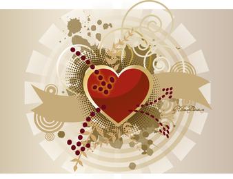 Vector de la bandera del corazón