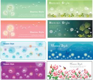 Banner de plantas com flores