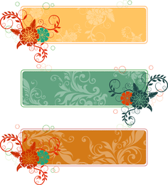 Retro Flower Banners