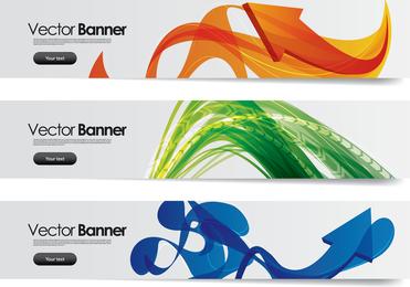 Banner definido com formas abstratas