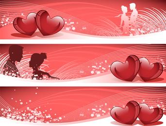 Amor banner vector