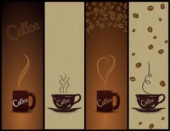 Banners de café de vetor