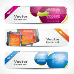 Set of 3 web banners