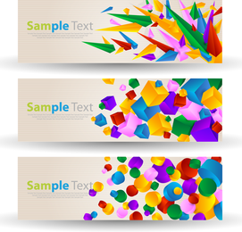 Vector Banners With