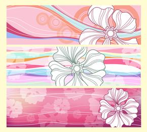 Banners de flores