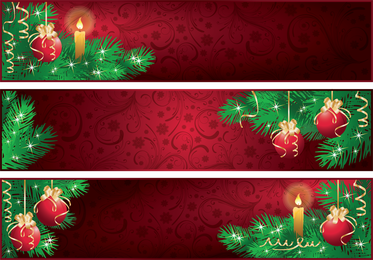 Red Christmas Banner