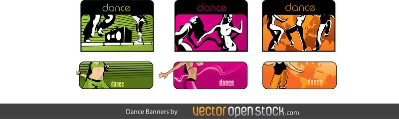 Danza vector banner