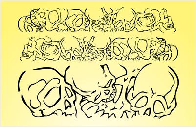 Banner de vetor de crânios