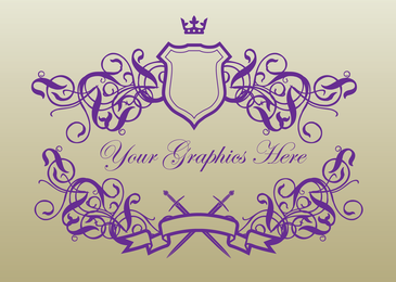 Purple Royal Banner Shields