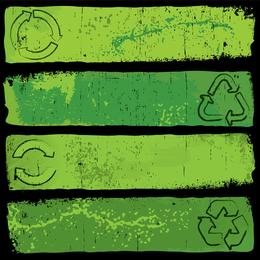 Banner verde nostálgico